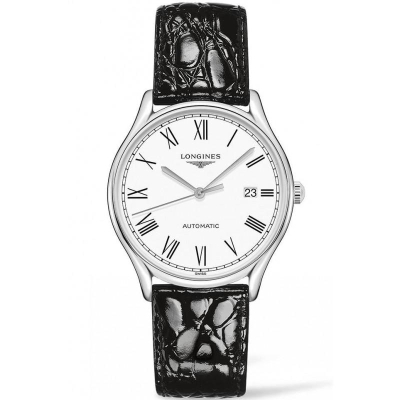 Longines Lyre 38,5mm White & Steel Leather strap Gent's Watch,L49604112