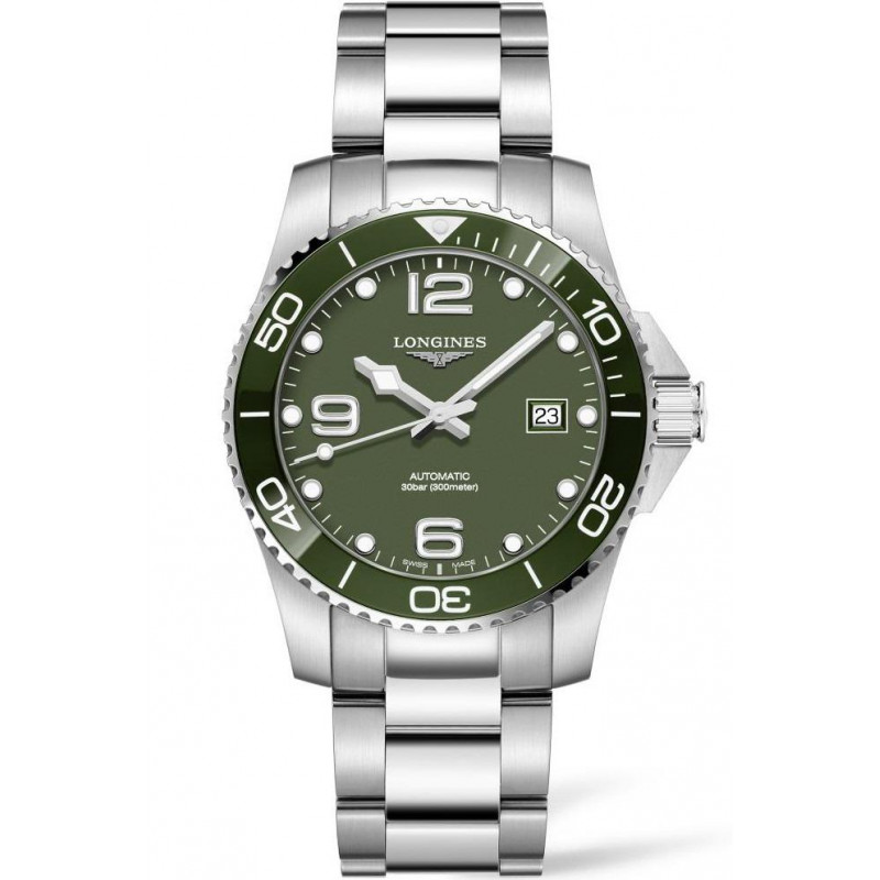 Longines - HydroConquest 41mm Green Ceramic & Steel L37814066
