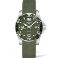 Longines - HydroConquest 41mm Green Ceramic & Rubber Strap L37814069