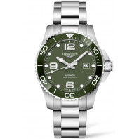 Longines - HydroConquest 43mm Green Ceramic & Steel L37824066