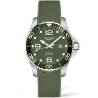 Longines - HydroConquest 43mm Green Ceramic & Rubber L37824069