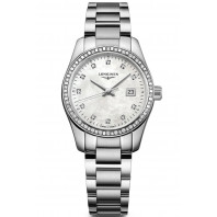 Longines - Conquest Classic 29.5mm Mother-of-pearls & 34 Diamonds L22860876