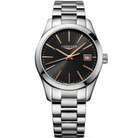 Longines - Conquest Classic 34mm Black & Rose gold L23864526