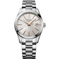 Longines - Conquest Classic 34mm Silver & Rose gold L23864726