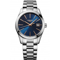 Longines - Conquest Classic 34mm Blå & Rose guld L23864926