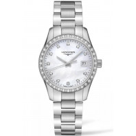 Longines - Conquest Classic 34mm 34 Diamonds & Steel L23860876