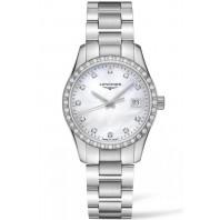 Longines - Conquest Classic 34mm Diamonds & Steel Bracelet L23860876