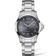 Longines - Conquest V.H.P. 36mm 9 Diamonds Black mother-of-pearls & Steel L33164886