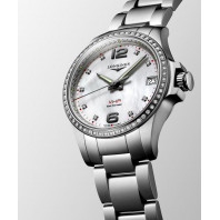 Longines - Conquest V.H.P. 36mm 65 Diamonds Mother-of-pearls & Steel L33160876