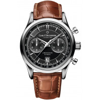 Carl F. Bucherer - Manero Flyback Kronograf Svart & Alligator band 00.10919.08.33.01