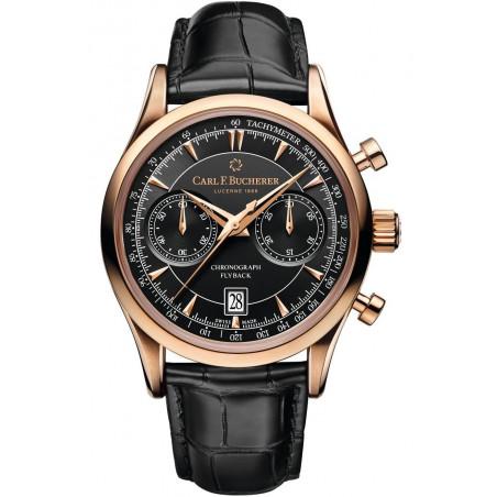 Carl F. Bucherer - Manero Flyback Chronograph 18K gold, Black & Alligator strap 00.10919.03.33.01