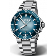 Oris - Aquis Lake Baikal Limited Edition Blå & Stållänk 733 7730 4175-Set