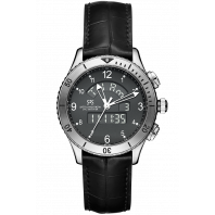 Sjöö Sandström - UTC SKYDIVER Quartz Black & Alligator strap 017357