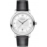 Montblanc - Star Legacy 39mm Silver & Alligator strap 119957