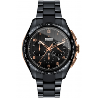 Rado - HyperChrome Automatic Chronograph Black high-tech Ceramic & Gold R32111162