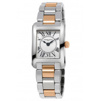 Frédérique Constant Classics Lady Carrée 23x21mm Quartz Silver Rose gold & Steelp,FC-200MC12B
