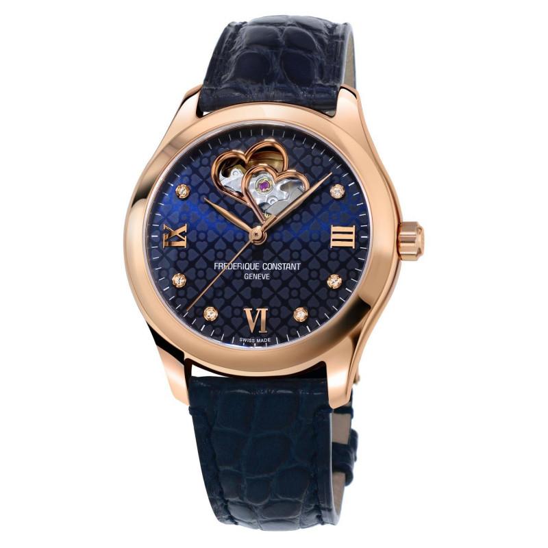 Frédérique Constant Ladies Automatic Heart Beat & Rose Gold Blue Dial FC-310NDHB3B4