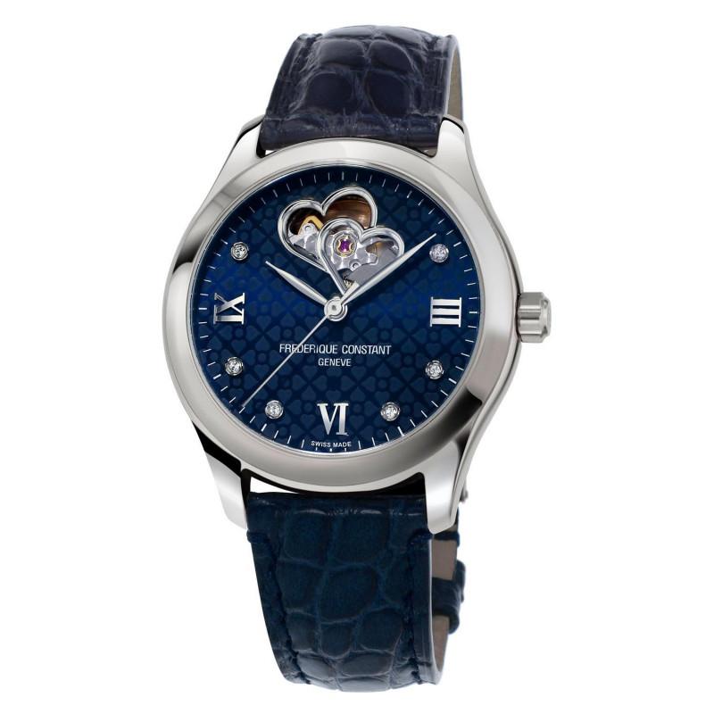 Frédérique Constant Ladies Automatic Heart Beat & Rose Gold Blue Dial FC-310NDHB3B6