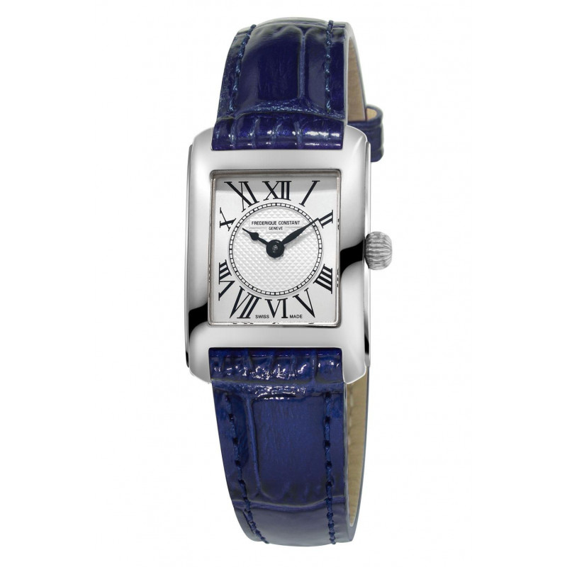 Frédérique Constant Classics Lady Carrée 23x21mm Quartz Silver &  Leather strap, FC-200MC16