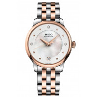 MIDO Baroncelli - Automatic 33mm MOP Steel & Rose Gold PVD Diamonds Lady's,M0392072210600