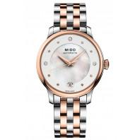 MIDO Baroncelli - Automatisk 33mm Pärlemor Diamant Stål & Rose Guld PVD Dam,M0392072210600
