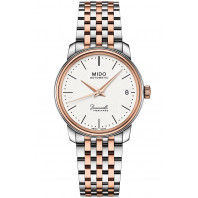 MIDO Baroncelli III- Automatic White Steel & Rose Gold PVD Lady's Watch,M0272072201000