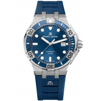 MAURICE LACROIX- AIKON Venturer Blue & Rubber Strap Men's Watch 43mm,AI6058-SS001-430-1