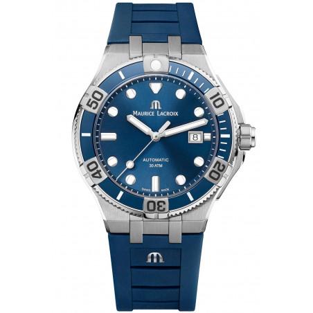 MAURICE LACROIX- AIKON Venturer Blue & Rubber Strap Men's Watch 43mm,AI6058-SS001-430-1