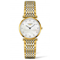 Longines La Grande Classique 29mm 12 Diamonds Mop & Gold Pvd, L45122877
