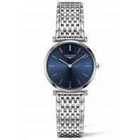 Longines La Grande Classique, blue dial with 12 diamonds, steel, women's watch L45124976