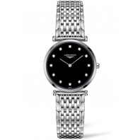 Longines - La Grande Classique 29mm 12 Diamonds Black & Steel,L45124586