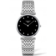 Longines La Grande Classique Black Diamonds Steel women's watch 33mm