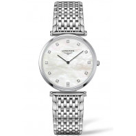 Longines La Grande Classique 33mm MOP Diamonds & steel women's watch L47094886