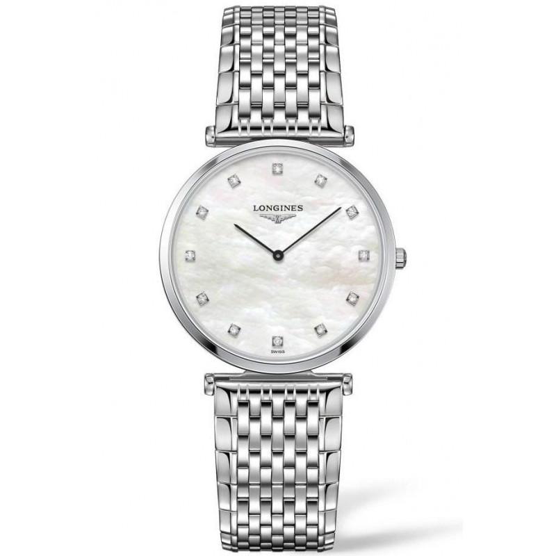 Longines La Grande Classique 33mm MOP Diamonds & steel women's watch L47094886