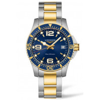 Longines - HydroConquest 34mm Quartz Blue Steel & Gold pvd,L33403967