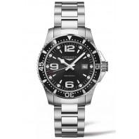 Longines - HydroConquest 39mm Quartz Black & Steel Gent's Watch, L37304566