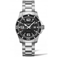 Longines - HydroConquest 39mm Quartz Black & Steel Gent's Watch, L37304566