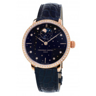 Frédérique Constant Slimline 38,8mm Rose Gold & Moonphase 60 Diamonds Lady's watch, FC-701NSD3SD4