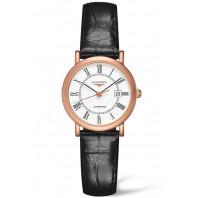 Longines - Elegant 27mm Rose guld & Aligator Läder, L43788110