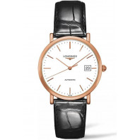 Longines - Elegant  White Rosegold & Alligator 37mm Gent's Watch L47878120