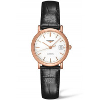 Longines - Elegant 27mm Rose gold & Alligator strap, L43788120