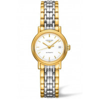 Longines  Presence 25mm White & Gold PVD,L43212127