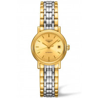 Longines  Presence 25mm Golden& Gold PVD,L43212327