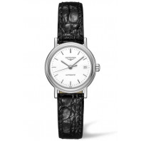 Longines  Presence 25mm White &Leather strap, L43214122