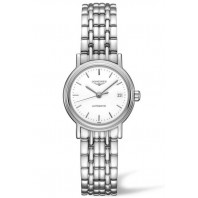 Longines  Presence 25mm White & Steel Bracelet,L43214126