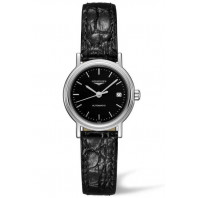 Longines  Presence 25mm Black &Leather strap, L43214522