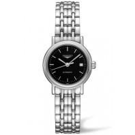 Longines  Presence 25mm Black & Steel Bracelet,L43214526