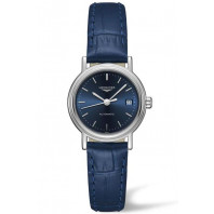 Longines  Presence 25mm Blue &Leather strap, L4321492