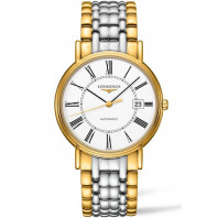 Longines Presence White & Bracelet with gold PVD Gent's Watch,L49212117