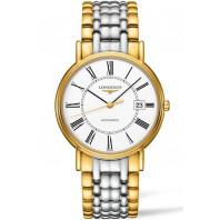 Longines Presence White & Bracelet with gold PVD Gent's Watch,L49212117
